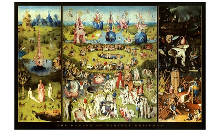 Hieronymus Bosch Garden Of Earthly Delights Art Print Poster Groupon