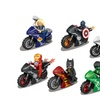 Super Heroes With Motorcycle Thor Iron-man Assemble Action Figure Toy