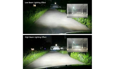9012 HIR2 1900W 285000LM LED Headlight Kit High Low Beam Bulbs 6000K HID White