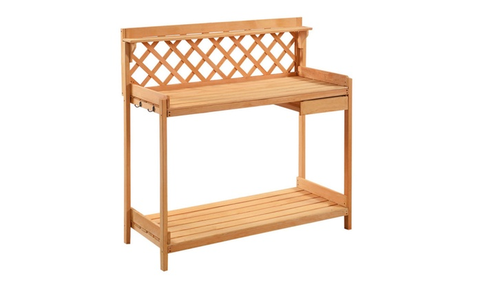 Potting Bench Outdoor Garden Work Bench Planting Wood Construction