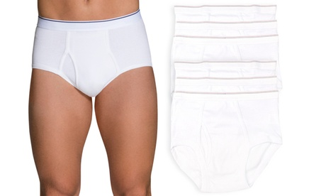 (6 Pack) Men's Classic White Cotton Brief Underwear