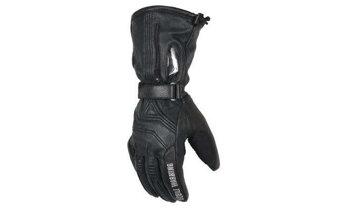 Mobile Warming Men's Leather Heated Gloves