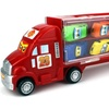 Race Car Semi Trailer Transporter with 10 Mini Cars (Colors May Vary)