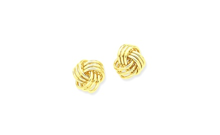 IceCarats Designer Jewelry 14k Polished Triple Knot Post Earrings