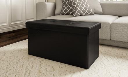 Lavish Home Foldable Storage Bench Ottoman