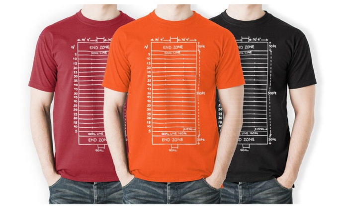 Men's Football Field Diagram T-shirt | Groupon