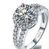 925 Sterling Silver 3 Carat Diamant Wedding Rings for Women