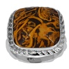 Orchid Jewelry 9.10 Carat Mariam Jasper Sterling Silver Fashion Ring