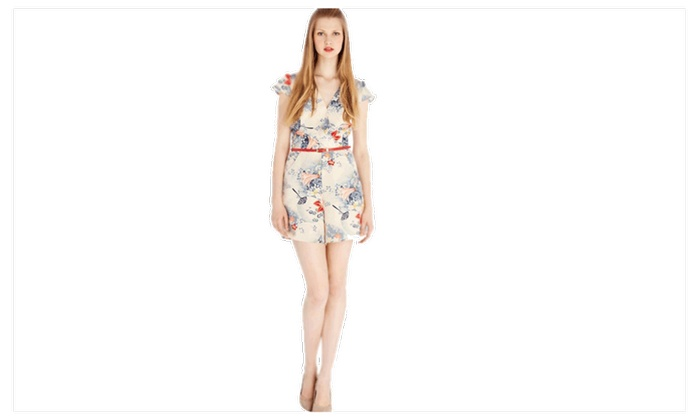 TOM CARRY: Women's Fashion Big V-Neck Slim Pants Jumpsuit - TCWJ016