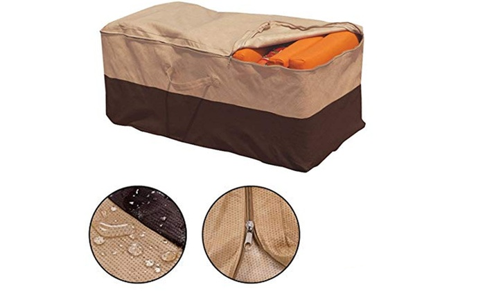 Waterproof Cushion Storage Bag Patio Furniture Chaise Organizer Protector Cover