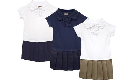 Style Clad 3-Pack Girls Short Sleeve Pleated Polo Dress School Uniform 86bf7417-dbf5-443e-8235-221d97eac68c