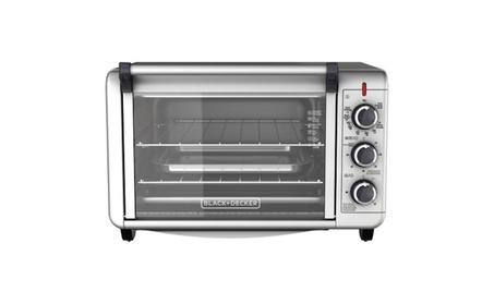 BLACK+DECKER 6-Slice Convection Countertop Toaster Oven, Silver photo