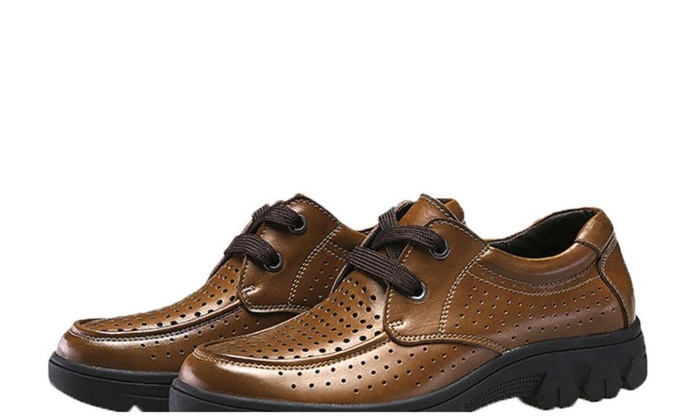 Men's Casual Lace up Solid Dress Shoes