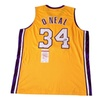 Autographed Shaquille O'Neal Los Angeles Lakers Custom Jersey Yellow