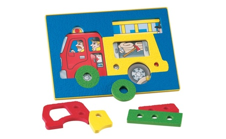 Lauri Crepe Rubber See-Inside Puzzles - Fire Truck 2851 db50f622-5ca7-481a-8b20-d167a823e7ca