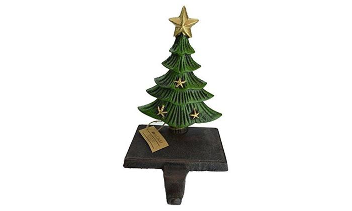 cast iron decorative christmas tree stocking holder 1 tree 950 - Decorative Christmas Stocking Holders