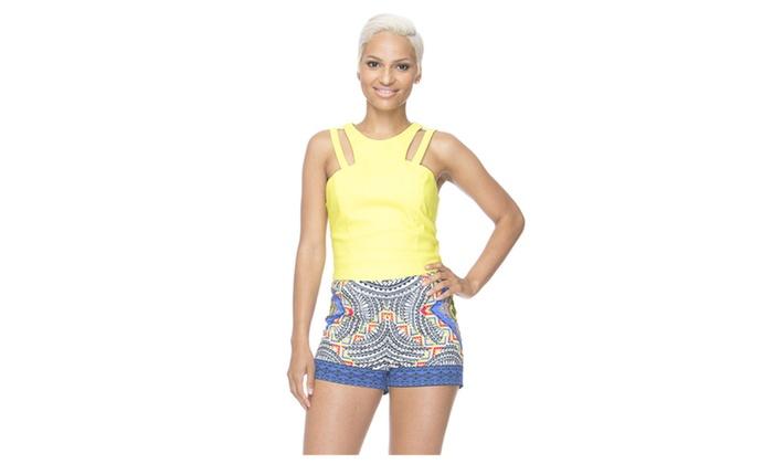 Women's Fashion Print Party High Waist Shorts