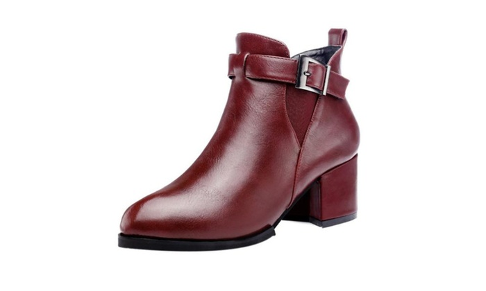 Women's Ladies Pointed Toe Marten Boots Shoes