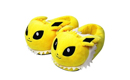 Pokemon Jolteon and Vaporeon Stuffed Plush Heel Cover Slipper 2da18a87-c063-4aba-a33c-f5be0c647707
