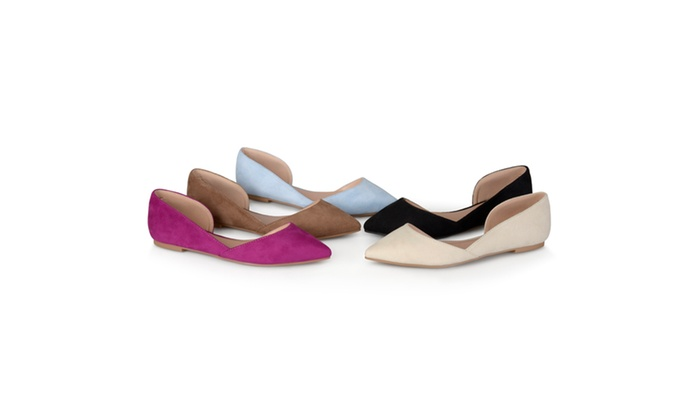 Journee Collection Womens Faux Suede D'Orsay Flats