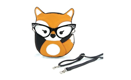 Sleepyville Critters Foxy Fox with Vintage Eyewear Crossbody Purse (Goods Women's Fashion Accessories Handbags Cross-Body) photo