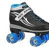 Roller Derby 1379-01 Boys Blazer Lighted Wheel Roller Skate Black & Blue - Size