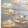 12 LED Solar Powered Star Garden String Lights(OF866)