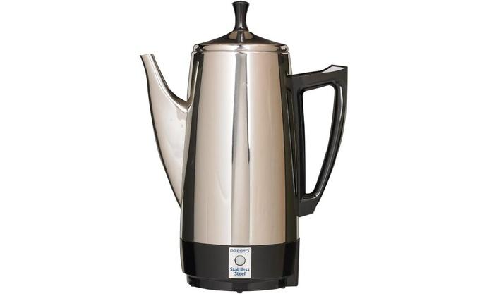 Presto 02811 Coffeemaker 12 Cup Stainless Steel 800 Watts