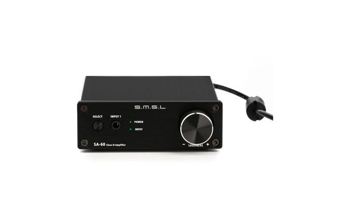 SMSL SA-60 black 60WPC Class D Digital Amplifier | Groupon