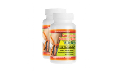 Garcinia Cambogia Extract Weight Loss Fat Burner Diet Pills -2 Bottles