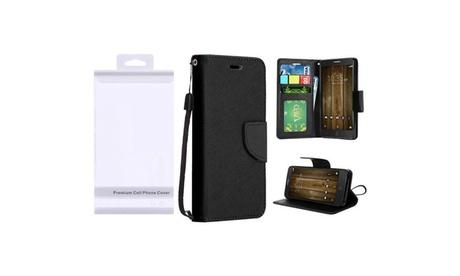 Insten Black Leather Stand Case For Alcatel One Touch Allura/Fierce 4/Pop 4 Plus ff9c168c-1a5b-4e03-bd57-2606ae933e04