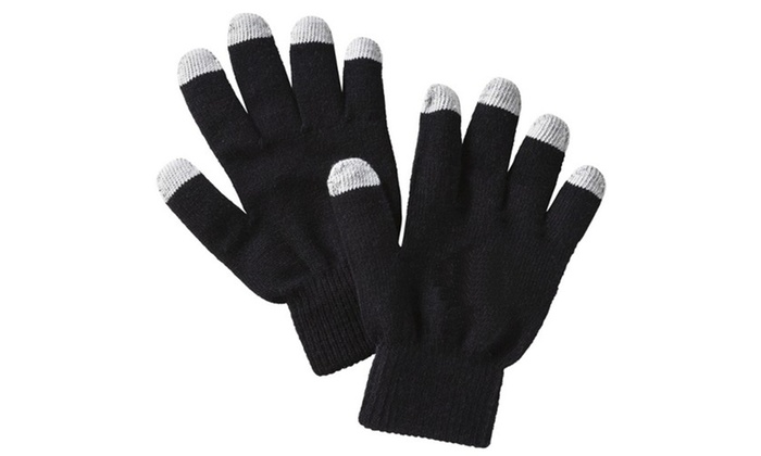 IPAD* BLACK LADIES FASHION TEXTING TOUCH SCREEN GLOVES FOR  SMART PHONE