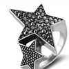 Silver Coffee Star Color Women's Ring