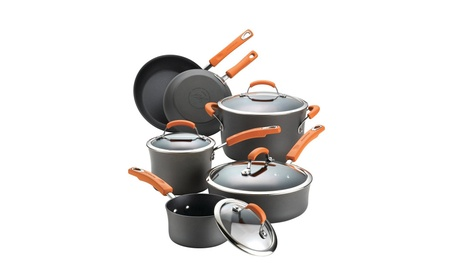 Rachael Ray 87375 10 Piece Hard Anodized II Cooking Set e9d7e064-ffa6-4d50-8f00-46341897f5d0