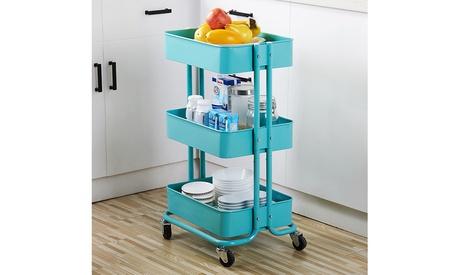 3-Tier Home Kitchen Storage Utility cart