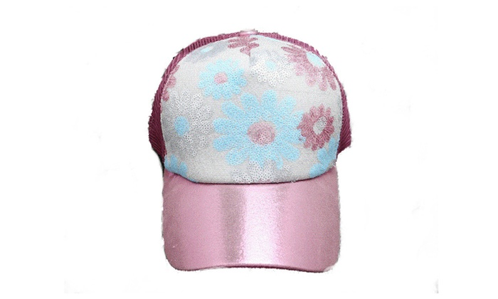 Classic Shiny Adjustable Baseball Cap Party Trucker Sparkle Hat