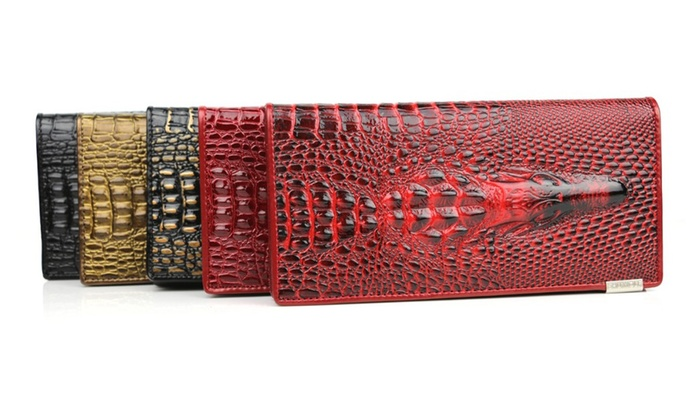 Alligator Clutch Wallet
