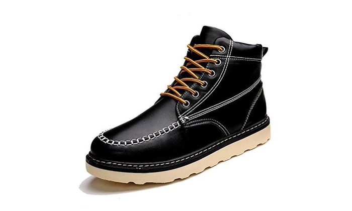 ESOSO Men's Leather Dress Oxfords Ankle Boots