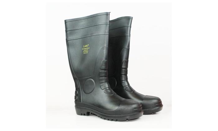15.5 LABO Men's Waterproof Winter Snow/Rain Rubber Boots