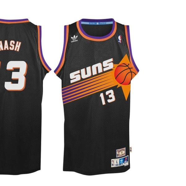 ba4e65a7bf7 Steve Nash Phoenix Suns Black Throwback Swingman Jersey