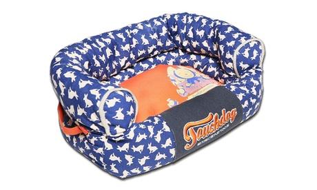 Touchdog Lazy-Bones Rabbit-Spotted Premium Easy Wash Couch Dog Bed 59f77421-ab0b-4d85-a1c3-923838b56ec2