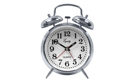 Equity By La Crosse 13014 Twin Bell Battery Operated Alarm Clock 232c1644-5868-46c0-9472-ad236e7f99ed