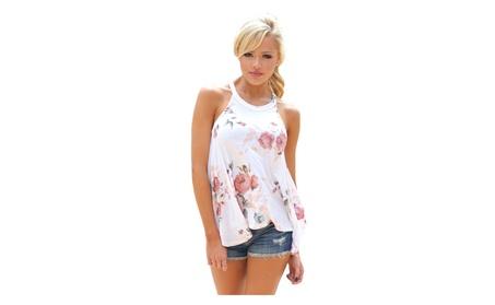 Women's Floral Print Flowy Tank Top 40650397-e44c-409e-819a-532e0845ec46