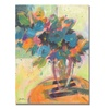 Sheila Golden Blue Blossoming Canvas Print