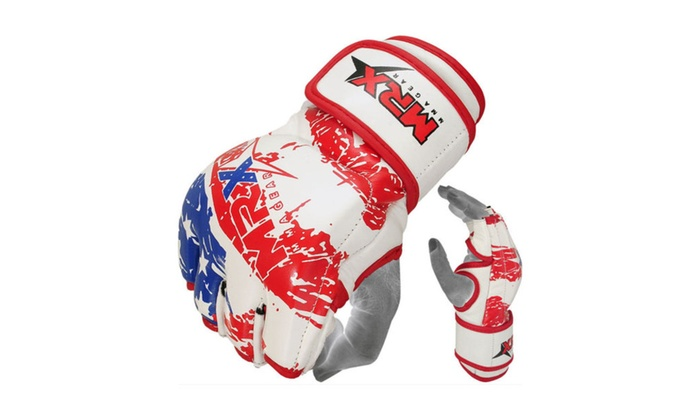 USA Flag arts MMA Fight Gloves Boxing ufc Grappling Glove Cage Kick