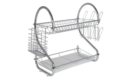 2 Tier Stainless Steel Dish Drying Rack ebde8ff7-738f-4456-bdd9-11451ffafa2f