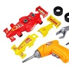 Build a Race Car 21 Pcs. Children's Toy Vehicle Playset w/ Power Drill, Tools