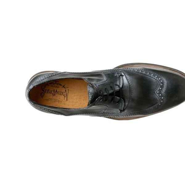 6f0c071e25c Steve Madden Men's 'Chapman' Leather Wingtip Oxfords, Black Leather