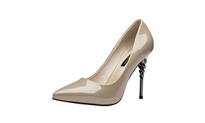 T&Mates Toe High Heel Slip On Stiletto Pumps Wedding Party Shoes