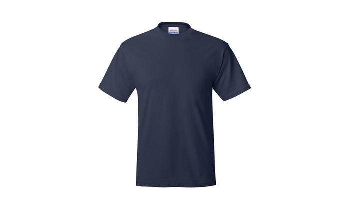 Hanes 5170 EcoSmart Crewneck T-Shirt, Solid-4
